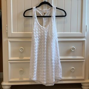 White lace Roxy cover up